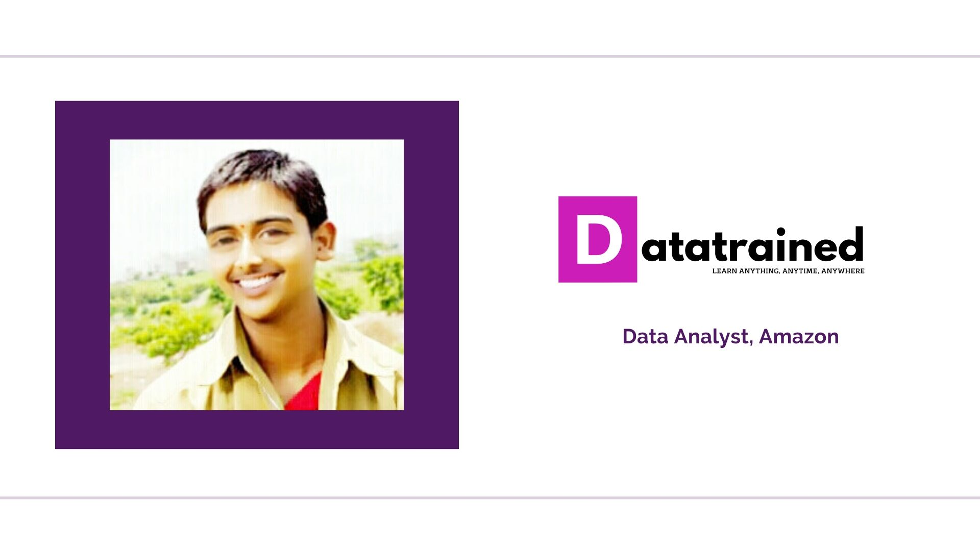 DataTrained helped Saurabh switch to Analytics